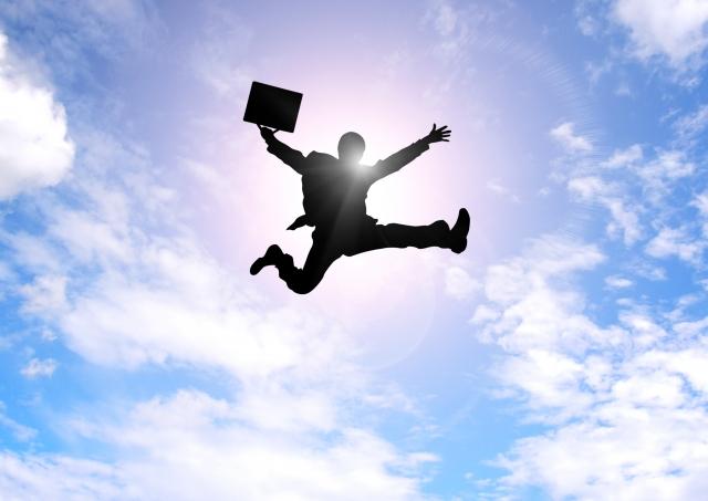 投資で成功し飛躍するサラリーマン