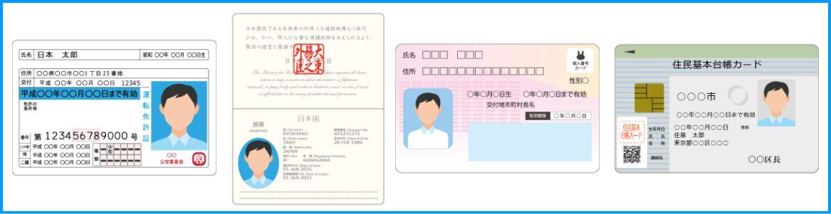 個人情報の入力と、本人確認書類のアップロードの方法